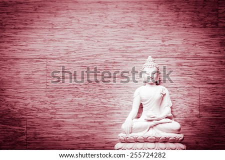 Illumination of Buddha - Peaceful mind - stock photo