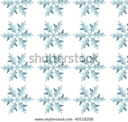 illusion of the motion snowflake - stock photo
