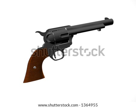Illustrated Isolated old style pistol