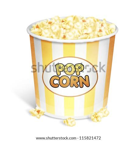 Illustrated Popcorn Bucket - stock photo