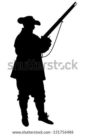 Illustrated silhouette of a Confederate Soldier