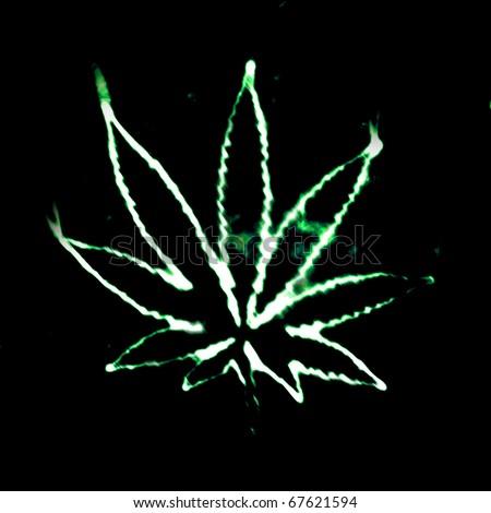 illustratian of the abstract smoking marijuana - stock photo