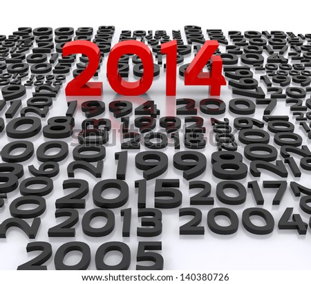 illustration - a wish for the new year, 2014 - stock photo