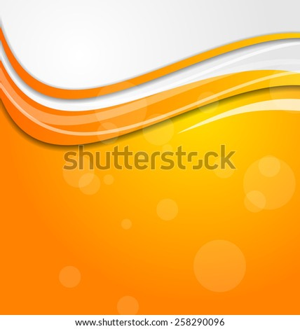 Illustration abstract bright orange background with circles - raster - stock photo