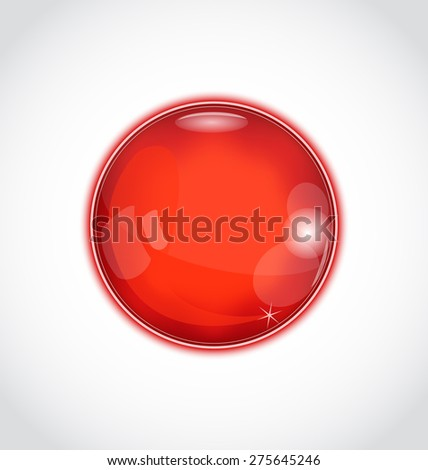 Illustration abstract glass sphere isolated on white - raster