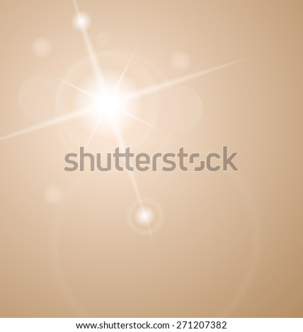 Illustration abstract star with lenses flare - raster - stock photo