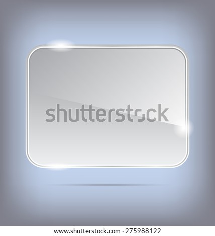 Illustration abstract transparent glass banner - raster - stock photo