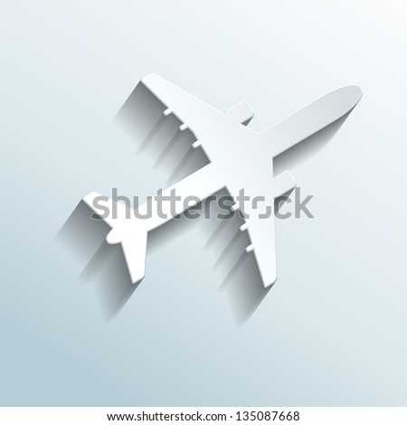 illustration - airplane made of paper
