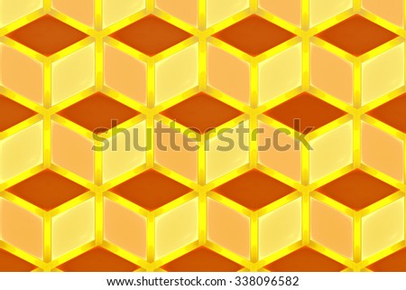 illustration background abstract bright fractal geometric pattern - stock photo