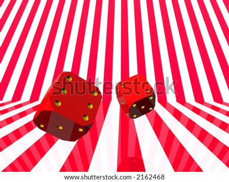 Illustration, background of Two rolling dice, random, hazard concept.