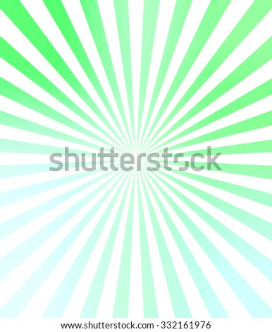 Illustration bright sunbeams. Bright sunbeams on a soft green background. Abstract bright background. - stock photo