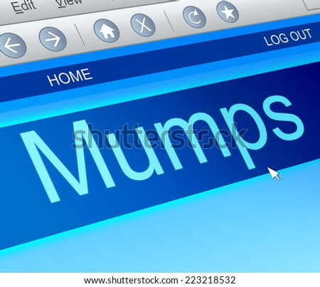 Illustration depicting a computer screen capture with a mumps concept.