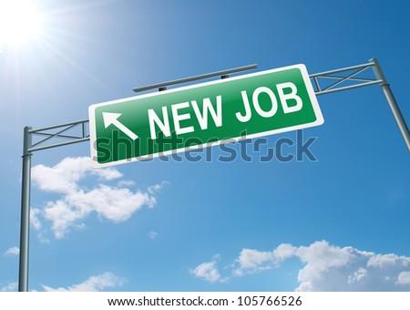 Illustration depicting a new job concept. - stock photo