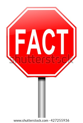Illustration depicting a sign with a fact concept. - stock photo