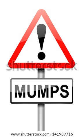 Illustration depicting a sign with a mumps concept.