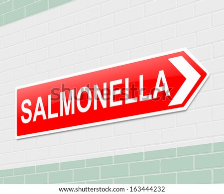 Illustration depicting a sign with a salmonella concept. - stock photo