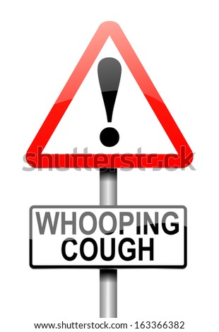 Illustration depicting a sign with a whooping cough concept.