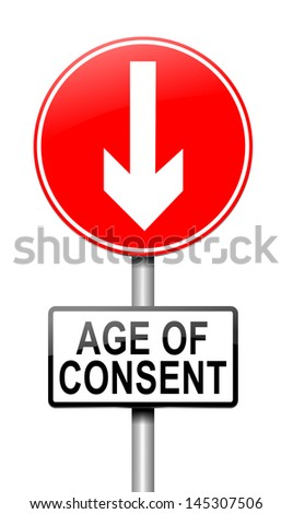 Illustration depicting a sign with an under age concept.