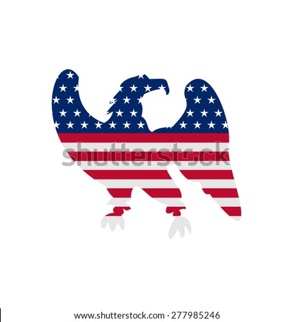 Illustration Eagle Symbol National pride America for Independence Day 4th of July. Patriotic American Symbol for Holiday - raster - stock photo