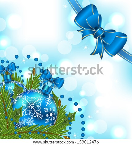 Illustration elegant packing with Christmas balls - raster