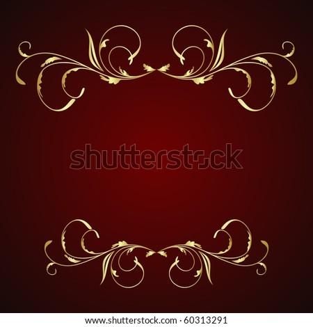 Illustration floral background for design card - raster - stock photo