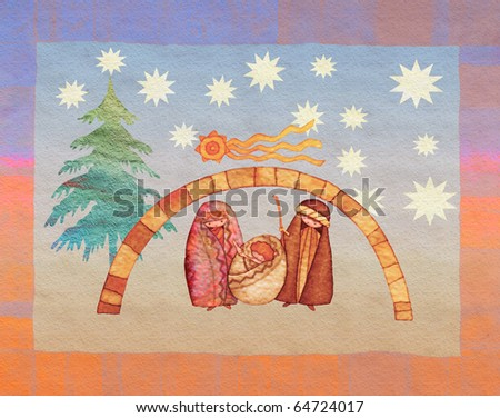 illustration for Christmas - stock photo