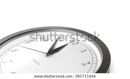 Illustration for time concepts. Isolated on white