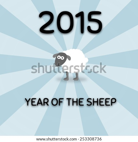 Illustration for year of the sheep - stock photo