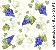 Illustration grapevine.Seamless background. - stock vector