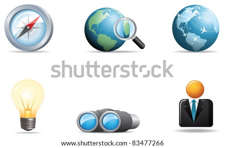 Illustration icons for Web and Communication - stock photo