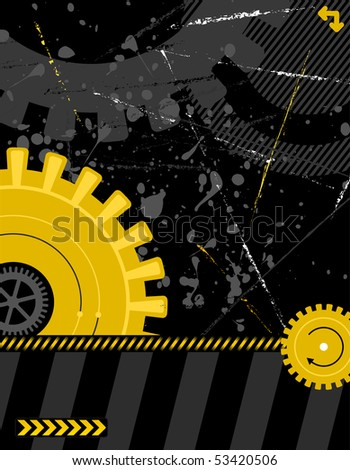 illustration - industrial background with plenty of copy space for your text - stock photo