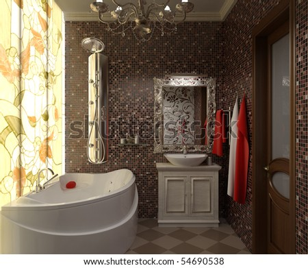 Interior apartments sofa armchair stock illustration for Beautiful toilet