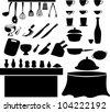 illustration Kitchen tools - stock photo