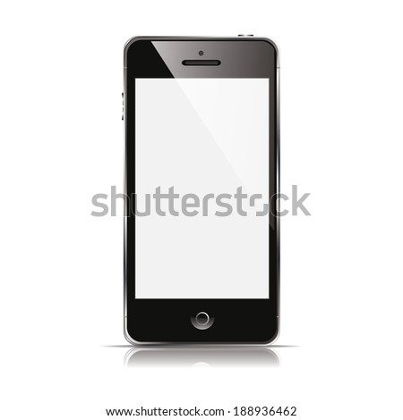 illustration modern phone on a white background