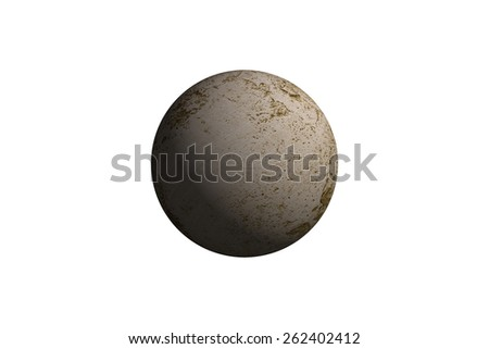 Illustration of a alien planet isolated on a white background. - stock photo