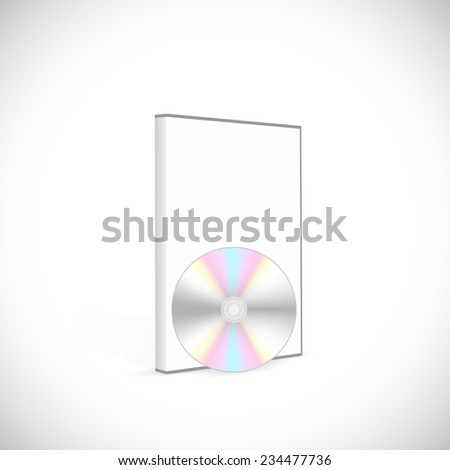 Illustration of a blank DVD case isolated on a white background. - stock photo