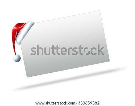 illustration of a blank winter sign,