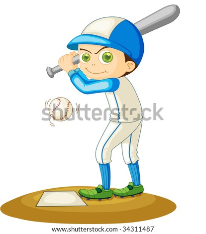 Illustration of  a boy  on white - vector EPS of this image also available in my portfolio