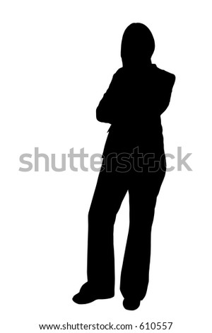 illustration of a business woman standing
