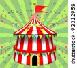Illustration of a circus tent - stock photo