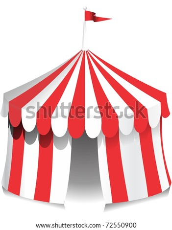 Illustration of a circus tent with red stripes. Ideal for carnival signs  sc 1 st  Shutterstock & Illustration Circus Tent Red Stripes Ideal Stock Illustration ...