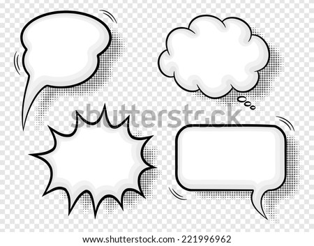illustration of a collection of comic style speech bubbles - stock photo