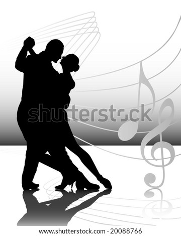 illustration of a couple dancing - stock photo