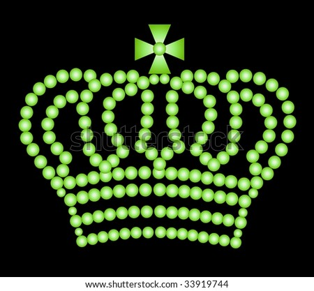 illustration of a crown on black background