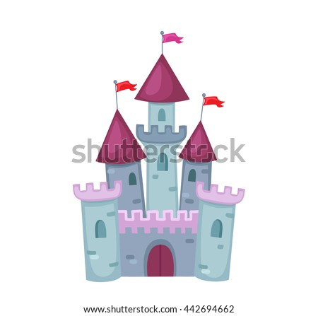 Illustration of a Cute Castle. Raster copy.