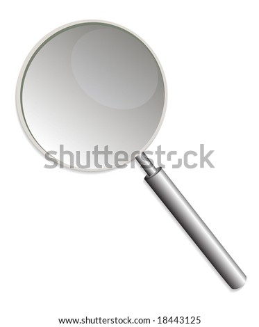 Illustration of a detailed magnifying glass - stock photo