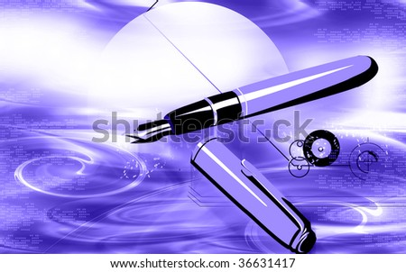 Illustration of a fountain pen