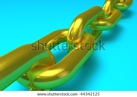 Illustration of a golden chain - stock photo