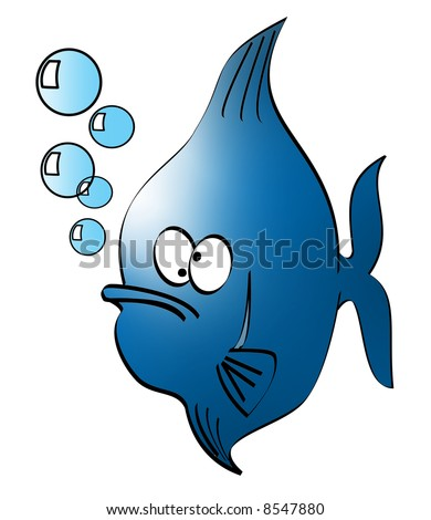 illustration of a goofy looking fish