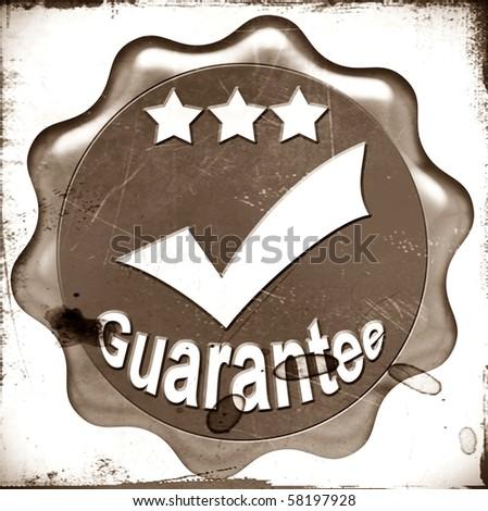 Illustration of a guarantee sign - stock photo